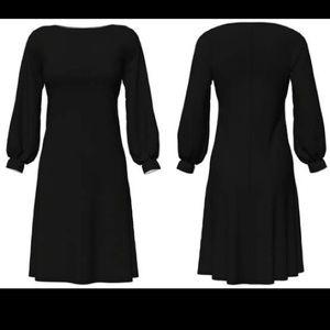 Vky & co black classy puff sleeve dress black L